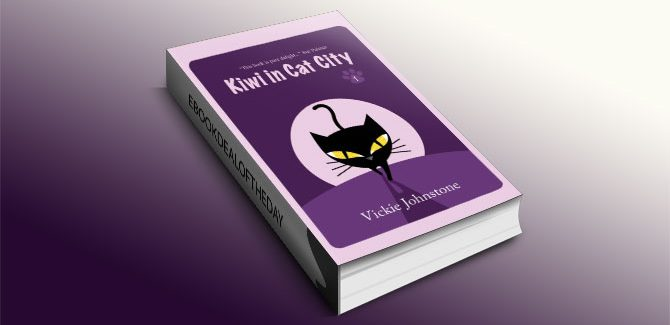 Kiwi in Cat City by Vickie Johnstone