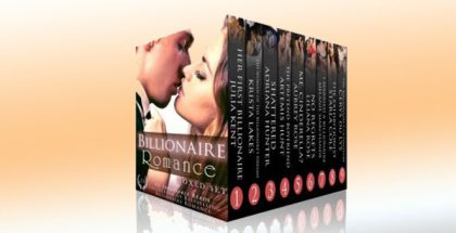 "a romance boxed set ""Her Billionaires: Boxed Set (The Complete Collection, Books 1-4)"" by Adriana Hunter, Aubrey Rose, Julia Kent, Melanie Marchande & Liliana Rhodes"