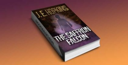 "a fantasy thriller ebook ""The Saffron Falcon"" by J.E. Hopkins"