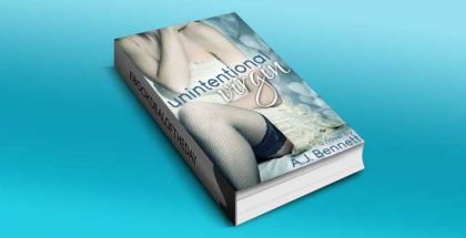 "new adult contemporary romance ""Unintentional Virgin"" by A.J. Bennett"