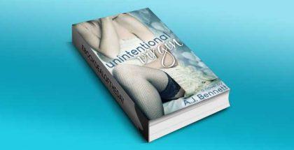 """new adult contemporary romance """"Unintentional Virgin"""" by A.J. Bennett"""
