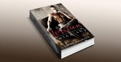 "contemporary romance ebook ""Once Written, Twice Shy (The Broken Men Chronicles Book 1)"" by Carey Decevito"
