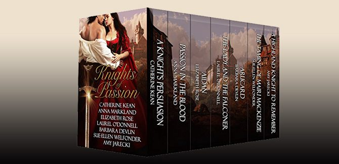 historical highlander medieval boxed set Knights of Passion by Catherine Kean