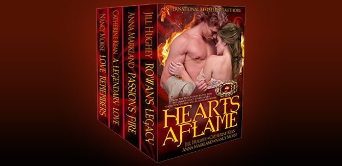 scottish medieval historical romance ebook HEARTS AFLAME by Nancy Morse