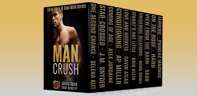 LGBT romance boxset Man Crush: 10 Book Gay Male Romance Bundle by Selena Kitt + More