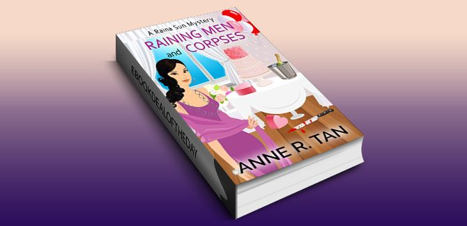 cozy mystery ebook Raining Men and Corpses, Book 1 by Anne R. Tan