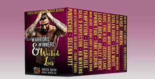 """romance boxed set """"Warriors,Winners & Wicked Lies: 13 Book Excite Spice Military, Sports & Secret Baby Mega Bundle (Excite Spice Boxed Sets)"""" by Selena Kitt + MORE"""