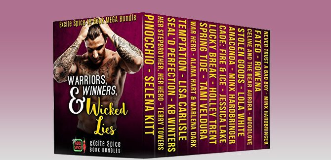 romance boxed set Warriors,Winners & Wicked Lies: 13 Book Excite Spice Military, Sports & Secret Baby Mega Bundle (Excite Spice Boxed Sets) by Selena Kitt + MORE